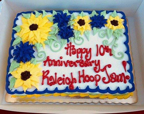 Raleigh Hoop Jam birthday cake