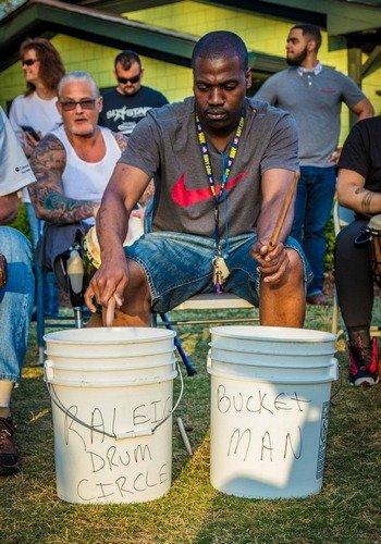 Jesse the bucket man drummer