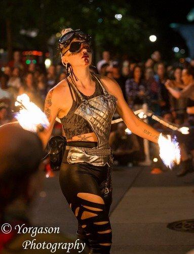 circusSpark at Sparkcon arts festival in downtown Raleigh
